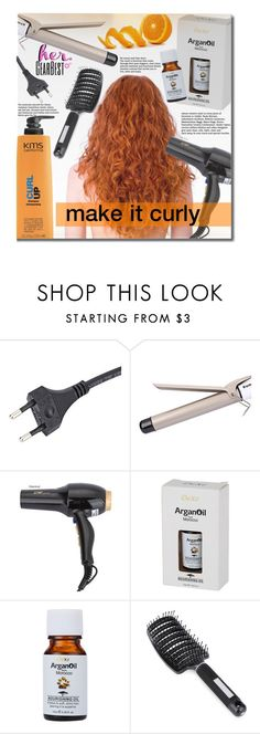 """""""Make It Curly"""" by beebeely-look ❤ liked on Polyvore featuring KMS California, Beauty, haircare, beautyproducts and gearbest"""