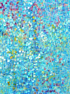 Blue Giclee Print Beneath the Surface Blue Yellow & Red Abstract Art by #LouiseMead on Etsy♥•♥•♥