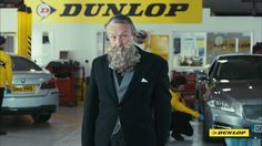Benedict Cumberbatch TV Commercial Dunlop tyres 2015 - Beard.   AT LEAST THE BEARD IS NOT ON BC!!