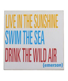 Take a look at this Yellow, Blue & Red 'Live in the Sunshine' Plaque  by Nautical Notes: Home Décor & More on #zulily today!