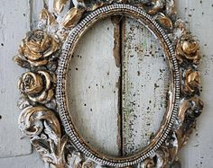 Antique plaster picture frame ornate antique French shabby