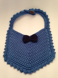 Crochet Drool Bib Vintage Style Bib Baby Bib by mikaandbramble