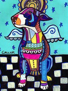 Cross Stitch Kit Miniature Bull Terrier ART
