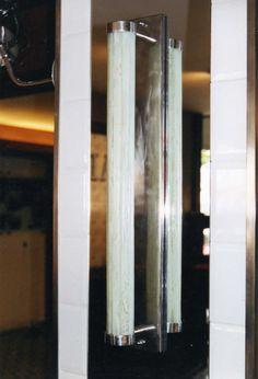 Arandela vidro artesanal para lampada fluorescente