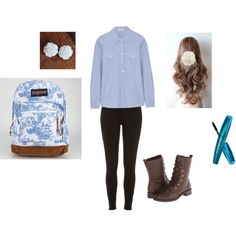 Untitled #9 by mckenzie-nemier on Polyvore featuring polyvore, fashion, style, Frame Denim, River Island, Aerosoles and JanSport
