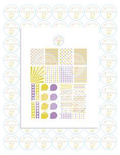 Erin Condren Planner Stickers DIY Kit Vertical Layout Instant Download PDF