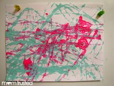 Marble Painting - Preschool Activities and Printables