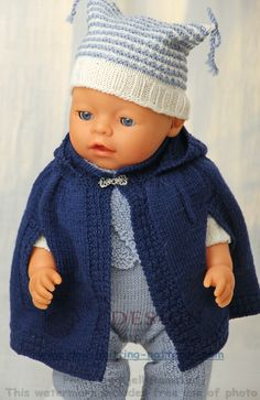 Baby Knitting Patterns Girl Knitting doll fashion – fashion classic for fall Knitting Dolls Clothes, Knitted Dolls, Crochet Dolls, Knitted Hats, Doll Clothes, Baby Knitting Patterns, Doll Patterns, Baby Born Clothes, Bitty Baby