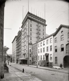 St George Hotel, Brooklyn Heights, NYC 1905. Clark Street facade towards Hicks St.