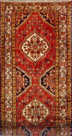 """Ardabil Persian Rug, Buy Handmade Ardabil Persian Rug 3' 7"""" x 11' 0"""", Authentic Persian Rug"""