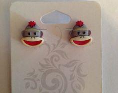 Sock Monkey Earrings!! #Sockmonkeyjewelry