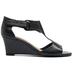 Wedges are a girl's best friend; comfort and effortless style. The T bar and statement buckle give these wedges a fresh modern twist which will keep you right on trend this summer. Team these wonderful wedges with floaty skirts or maxi dresses for a boho Most Comfortable Shoes, Fashion Shoes, Style Fashion, Shoe Brands, Best Sellers, Wedge Sandals, Black Leather, Footwear, Wedges
