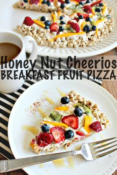 Honey Nut Cheerios Breakfast Fruit Pizza!