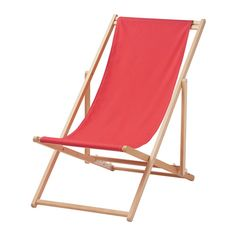 IKEA - MYSINGSÖ, Beach chair, folding red,  , , Easy to keep clean and fresh as the fabric can be removed and machine-washed.