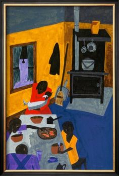 This Is a Family Living in Harlem, 1943  By: Jacob Lawrence