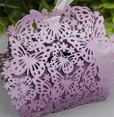 New Wedding Favors And Gifts Box Butterfly Laset Cut Elegant Luxury Decoration Party Event Supplies Paper Candy Bag For Guest