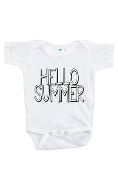 dc5f759a2 7 ate 9 Apparel Baby's Hello Summer Onepiece Hello Summer, Summer Kids,  Birthday Party