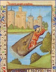 Jonas rejeté par la baleine. Ecole française du XVème siècle.