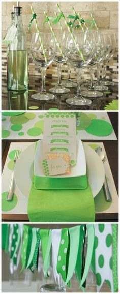 Green decor - St Patty's!