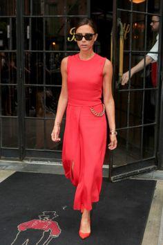 Victoria Beckham wearing @victoriabeckham Fall 2014 – New York City #2014
