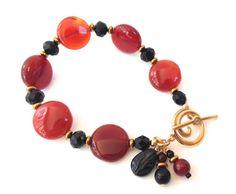 Red Agate Semi Precious Stone Handmade by SRyanJewelryDesigns