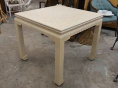 Linen Wrapped Ming Flip Game Table