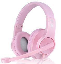 Details about PINK Professional Gaming Headset Girls Mic Wired Stereo Headphone for PC - Gamer House Ideas 2019 - 2020 Xbox Headset, Best Gaming Headset, Wireless Headset, Gaming Computer, Computer Setup, Gaming Setup, Gaming Chair, Cute Headphones, Gaming Headphones