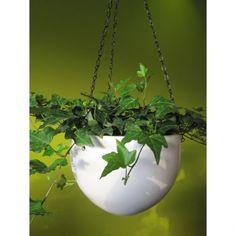 Pretty white hanging planters
