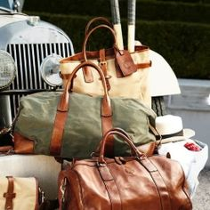 Ralph Lauren weekender bags/// just bought one similar to this and I can't wait to use it!