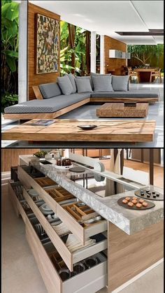 Pin by achu rajesh on Home & deco (With images) Interior Design Living Room, Living Room Designs, Living Room Decor, Modern House Design, My Dream Home, Furniture Design, Diy Furniture, Wooden Living Room Furniture, Steel Furniture