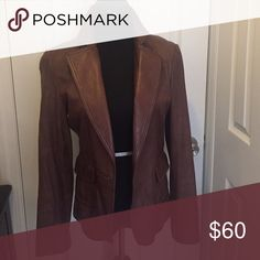 Love leather Brown leather Jacket.  Great condition Jackets & Coats Blazers