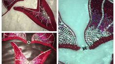 MuscleBling - Figure - Red Ombré w/Heart Top Figure Suits, Red Ombre, Heart, Bikinis, Tops, Design, Bikini, Bikini Tops