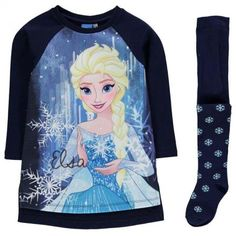 Character gyerekruha szett - Frozen - Character Fleece Dress Set Infant Girls