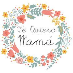 Descargable gratuito Dia de la madre en www.miamandarina.es Más info en el blog www.miamandarinablog.wordpress.com (flores basadas en diseño vectorial de freepik)
