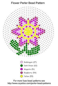 Flower perler beads pattern