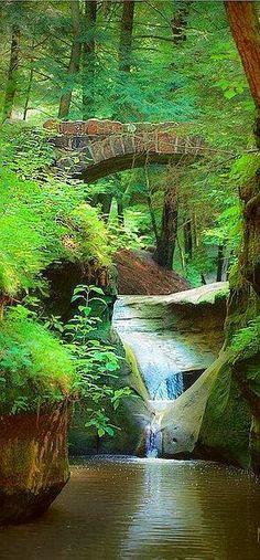 Old Man's Cave in Gorge near Logan, Ohio, USA