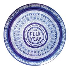 I would love to sprinkle this in with my collection of blue plates like this...surprise :) Lucas Grogan Artist Plate