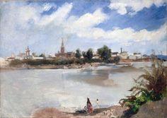 Frank Buchser - View of Seville Across the Guadalquivir