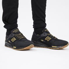 New Balance Shoes Black And Gold