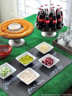 Ritz Crackers Bar for a football home bowl party via Kara Allen | Kara's Party Ideas for Ritz and Coca-Cola #homebowlherocontest