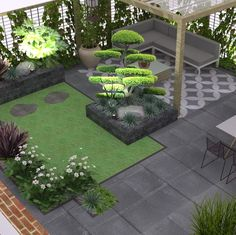 Garden Design Layout - New ideas Backyard Garden Design, Small Garden Design, Backyard Patio, Backyard Landscaping, Landscaping Ideas, Layout Design, Rustic Gardens, Garden Seating, Back Gardens