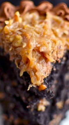 The Best German Chocolate Cake in All the Land.