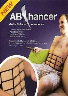 6-Pack Abs if only i could get the real thing from this!