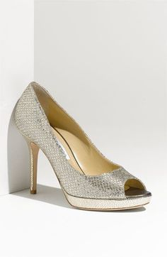 Dream wedding shoes:Jimmy Choo 'Luna' Open Toe Pump | Nordstrom #nordstromweddings