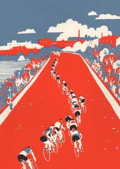 Cycling Illustrations; Eliza Southwood