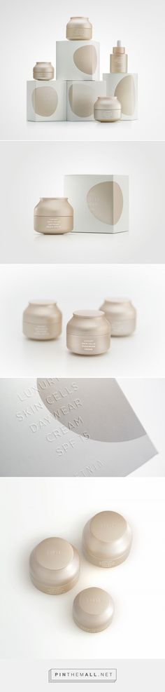 Modern, neutral packaging design and branding for a cosmetic brand. Creative bottle design with extravagant shapes and silk texture, representing the effect the product has on the skin. Very clear and functional pharmaceutic branding. Branding And Packaging, Skincare Packaging, Luxury Packaging, Bottle Packaging, Cosmetic Packaging, Beauty Packaging, Simple Packaging, Luxury Branding, Packaging Inspiration