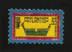 Art Blog/Eric Whollem Stamp Creator, Stamp Making, My Stamp, Hand Coloring, Atlantis, Art Blog, Postage Stamps, Cinderella, Symbols