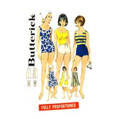 1960s Bathing Suit Pattern Butterick 3115 Bust 32 by CynicalGirl, $28.00