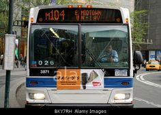 M104 Bus, via Broadway, Public Transportation, New York City, 2010 © Tomas Abad / Alamy