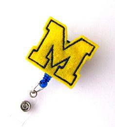 University of Michigan  Name Badge Holder  College by BadgeBlooms, $6.00